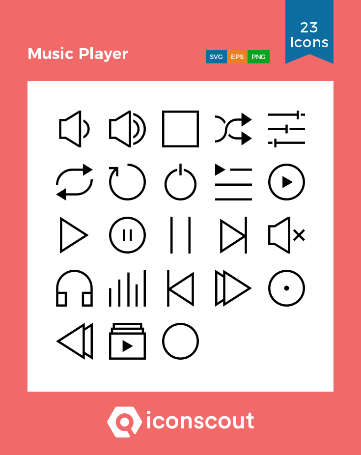 Download Music Player Icon Pack Available In Svg Png Eps Ai Icon Fonts Aesthetic Template Music Players Music App