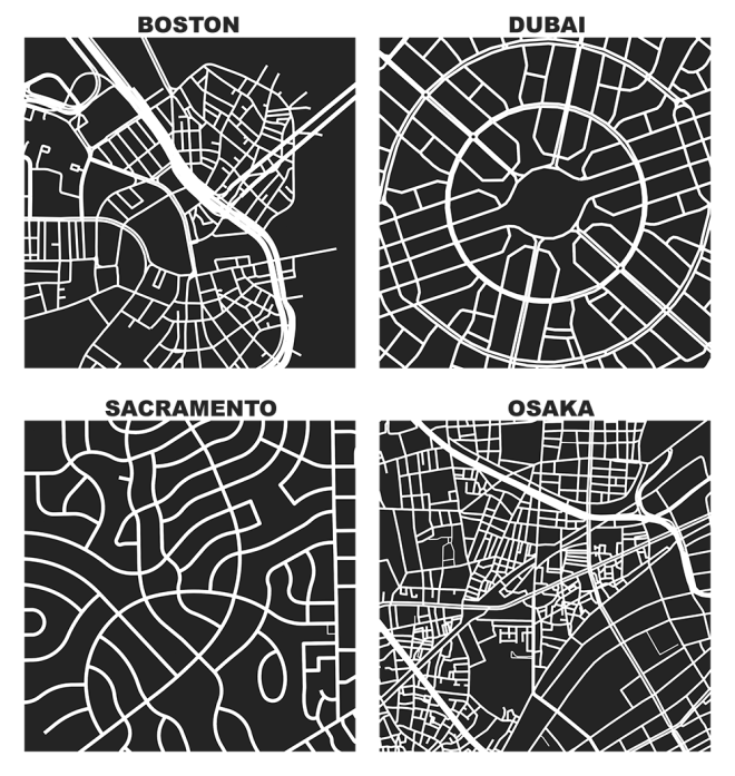 Osmnx figure ground diagrams of one square mile of boston geoff boeing conceived an open source do it yourself city mapping tool that improves digital street network visualization inspired by allan jacobs work solutioingenieria Images