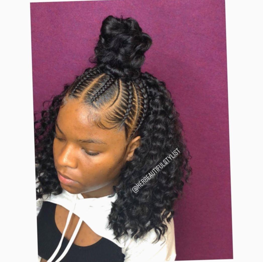 Hairstyles Braided Half Up Half Down Black Livedinhair Salonrepublic Beachwave Braided Half Up Half Down Hair Curly Crochet Hair Styles Braided Hairstyles