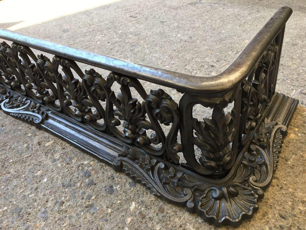 Admirable Antique Cast Iron Victorian 43 Fireplace Fender Hearth Download Free Architecture Designs Scobabritishbridgeorg