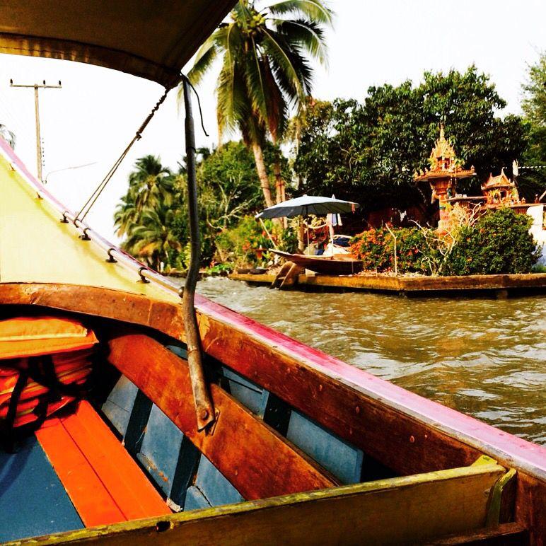Tayland bangkok floatingmarket
