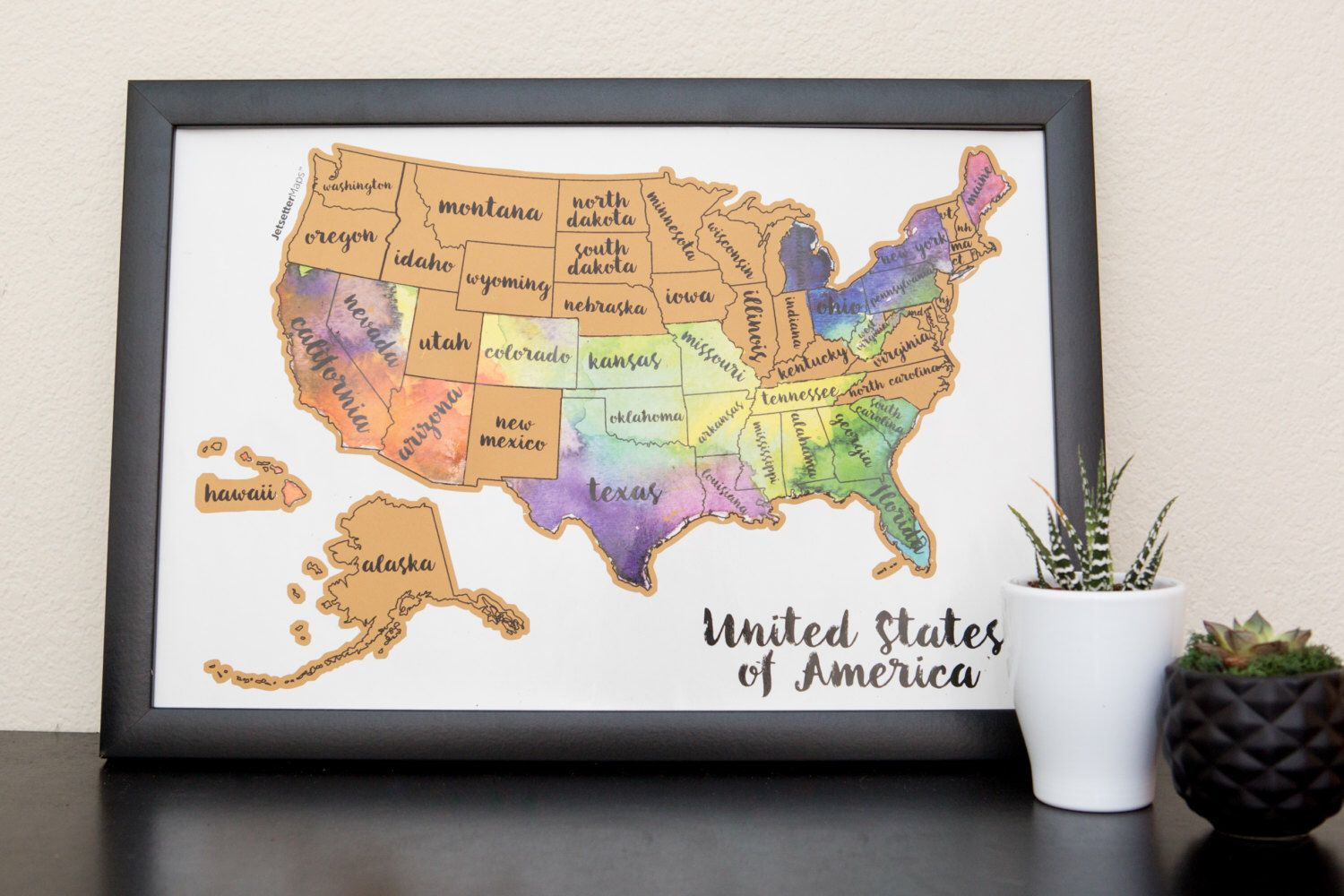 United States of America US Watercolor Art