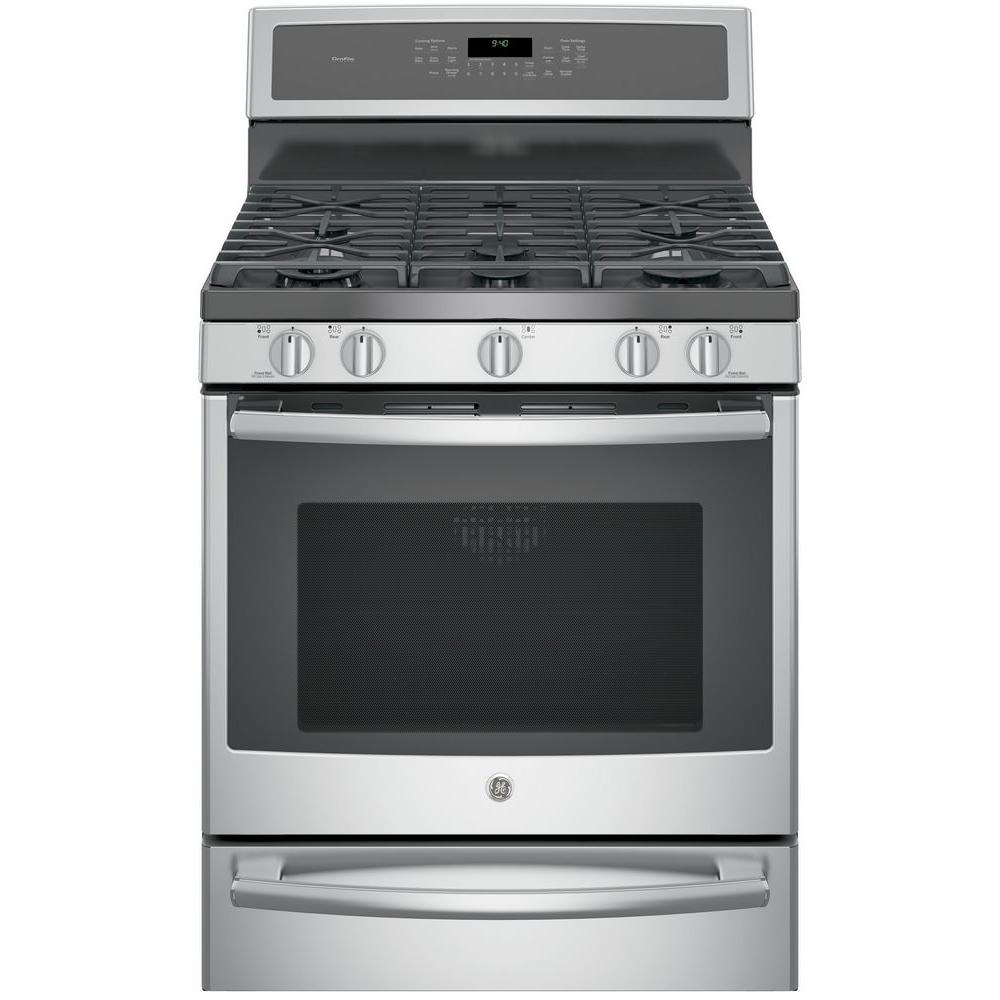 Ge Profile 30 In 5 6 Cu Ft Smart Dual Fuel Range With Self