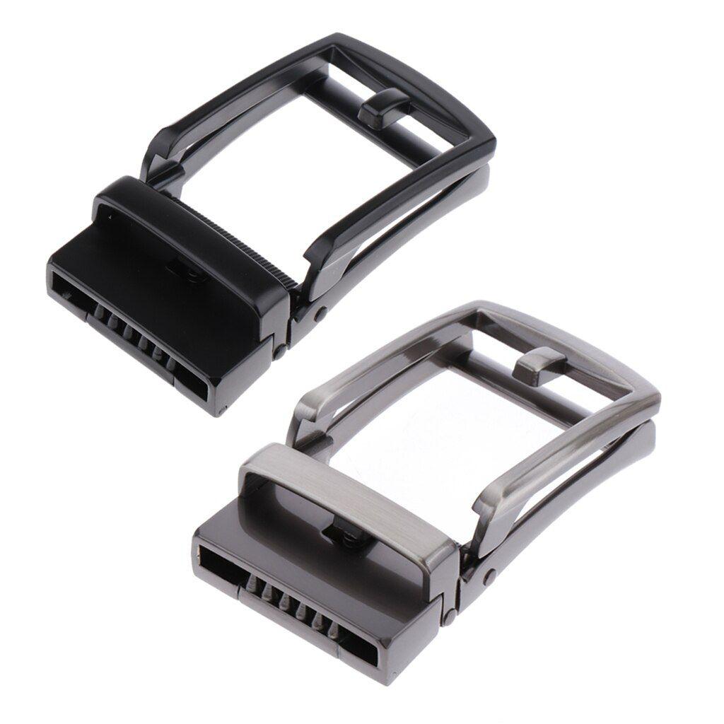 2pcs fashion ratchet belt buckle only automatic slide