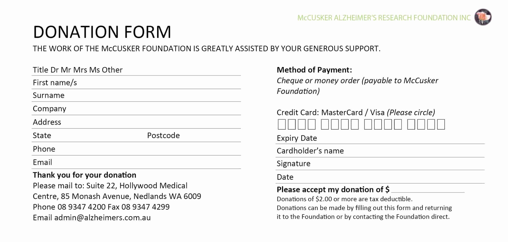 Donation Form Template Pdf New 6 Donation Form Templates Excel Pdf Formats Note Card Template Card Templates Free Donation Form