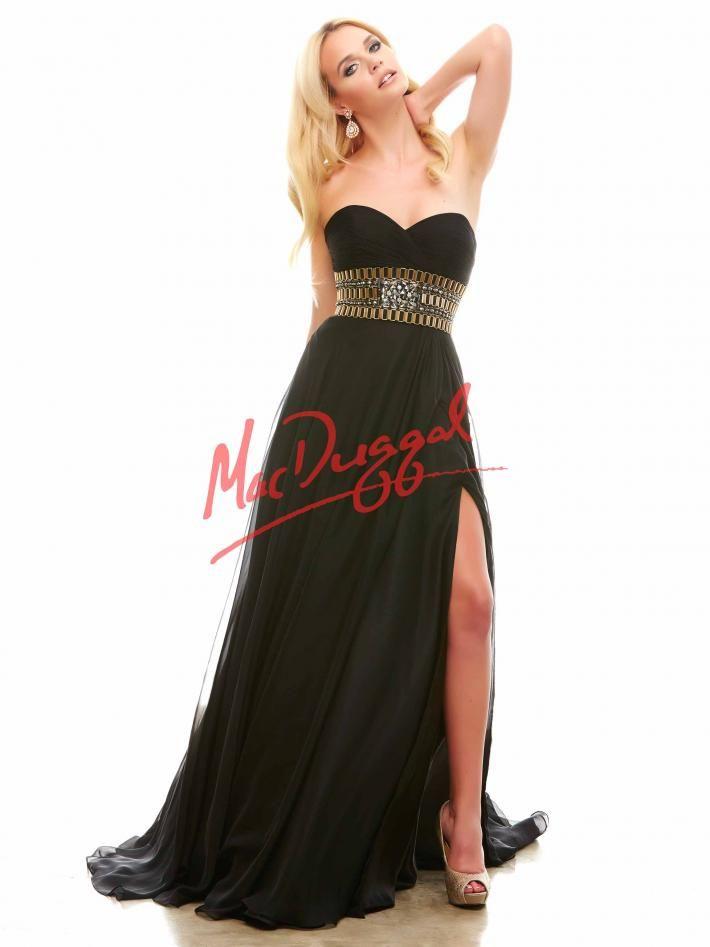 Black and Gold Prom Dress | Grecian Prom Dress | Mac Duggal 82266A ...