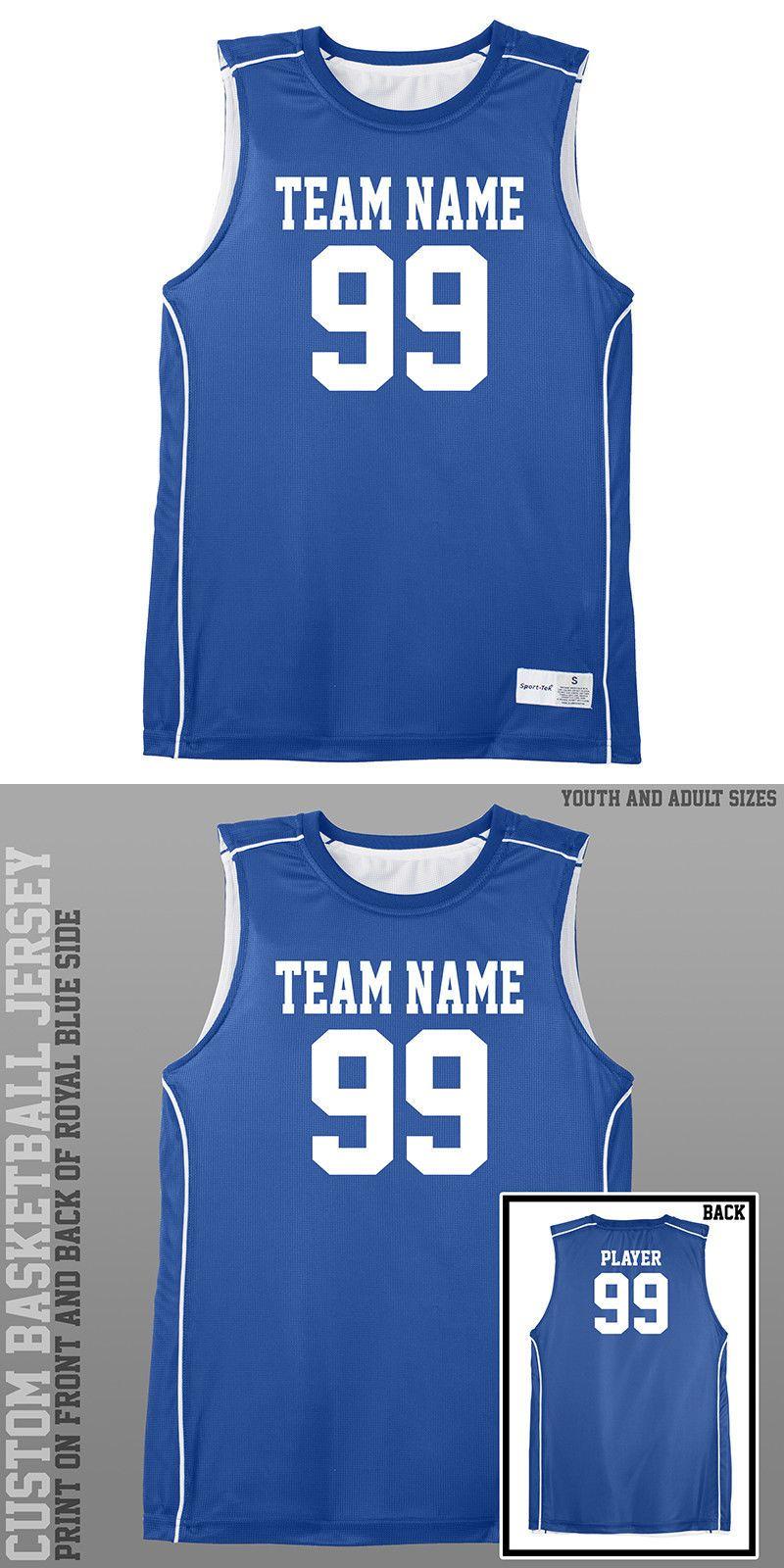 Clothing 158964  Custom Basketball Jersey Royal Blue Jersey Uniform  Sleeveless Sport Tek -  BUY IT NOW ONLY   39 on  eBay  clothing  custom   basketball ... c0a613a38