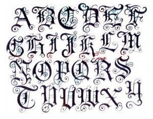 Gothic Calligraphy Alphabet Google Search Calligraphy