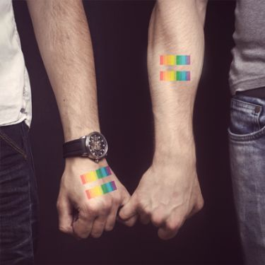 Gay tattoo lovers