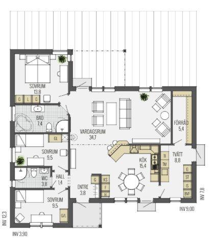 Der Bungalow Erlebt Gerade Sein Comeback Als U201eLifestyle Bauformu201c Mit Offenen  Grundrissen Und Lichtdurchfluteten Räumen.