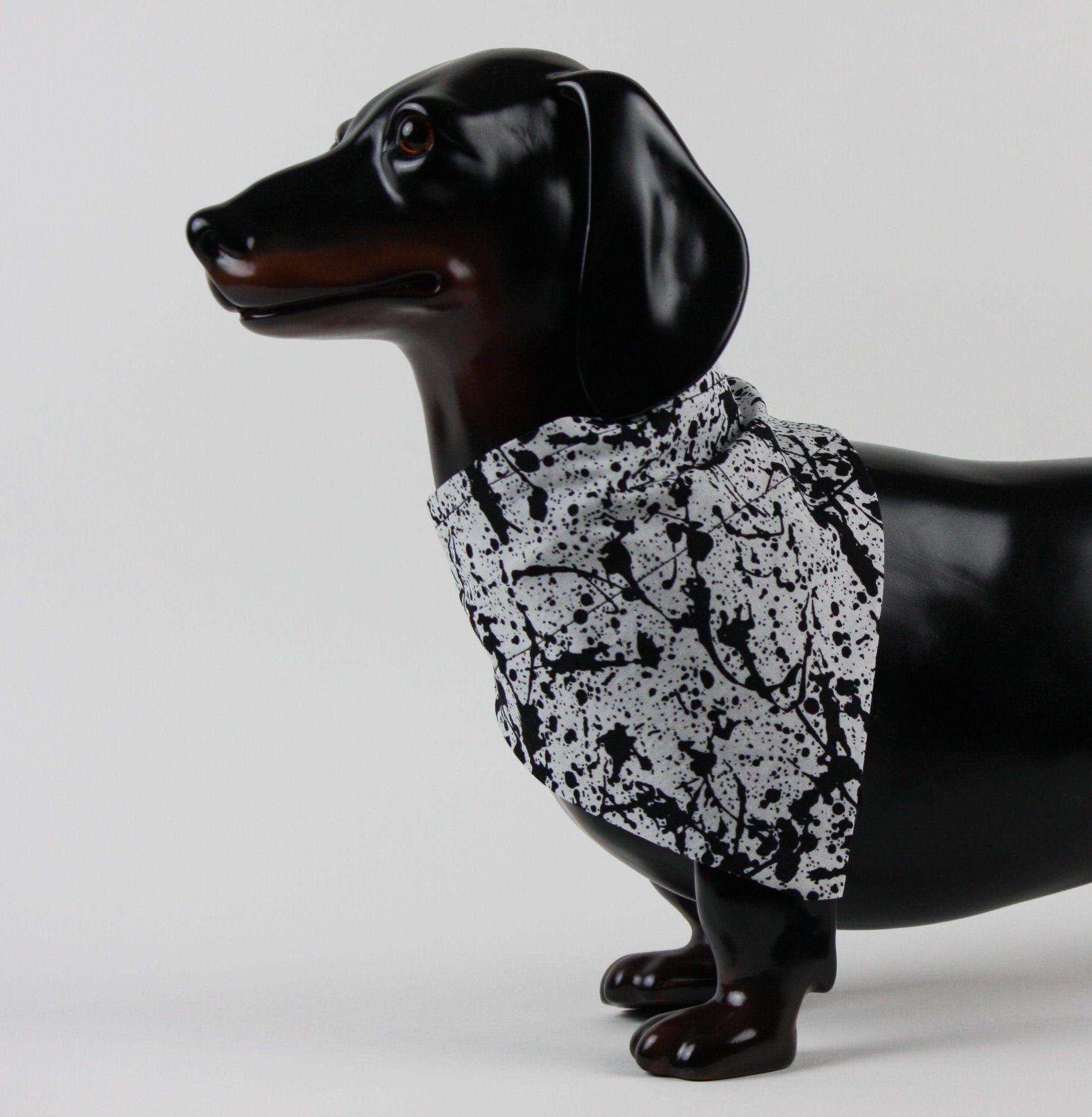 Paint splatter dog collar bandana no tie dog bandana