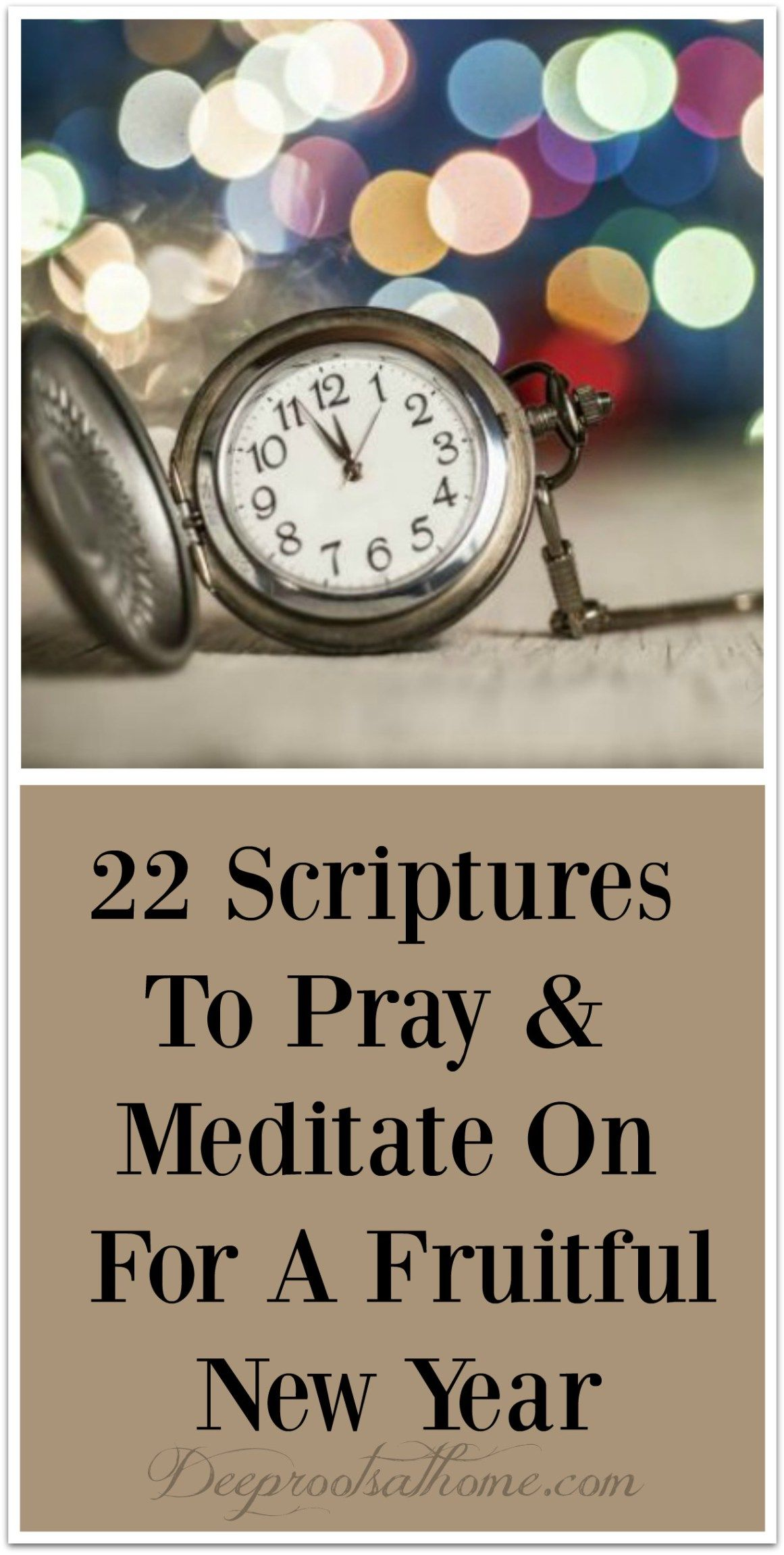 20 Scriptures To Pray & Meditate On For A Fruitful New Year | Bible ...