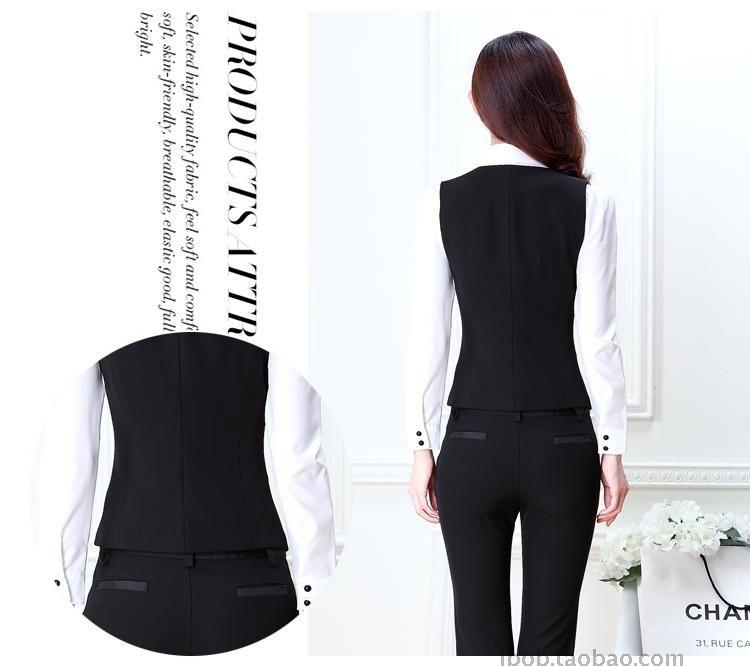 7ef0db7d14a0 Aliexpress.com: Comprar Novedad moda primavera, ropa elegante para mujeres  profesionales y ejecutivas de algodón con escote en V, uniforme de 5  piezas, ...