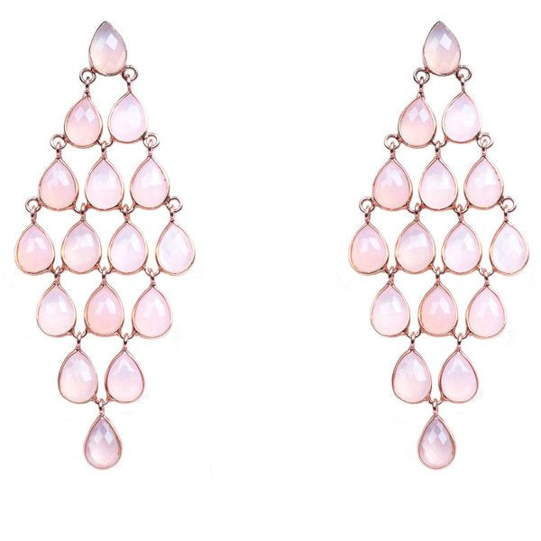 Rosegold cascade earring rose quartz (6.460 ARS) ❤ liked on Polyvore featuring jewelry, earrings, teardrop jewelry, rose gold jewellery, teardrop earrings, handcrafted earrings and handcrafted jewellery