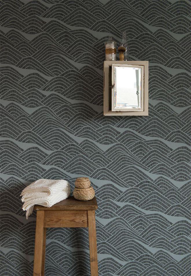 un papier peint graphique pour un relooking tendance. Black Bedroom Furniture Sets. Home Design Ideas