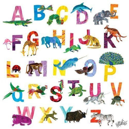 Eric Carle ABC Canvas Wall Art - Pink 22\