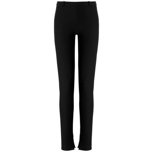 Mortimer Designer Trouser | Black Wool | Roland Mouret Resort 2016... (€490) ❤ liked on Polyvore featuring pants, slim wool pants, slim fit trousers, woolen pants, slim fit pants and wool pants