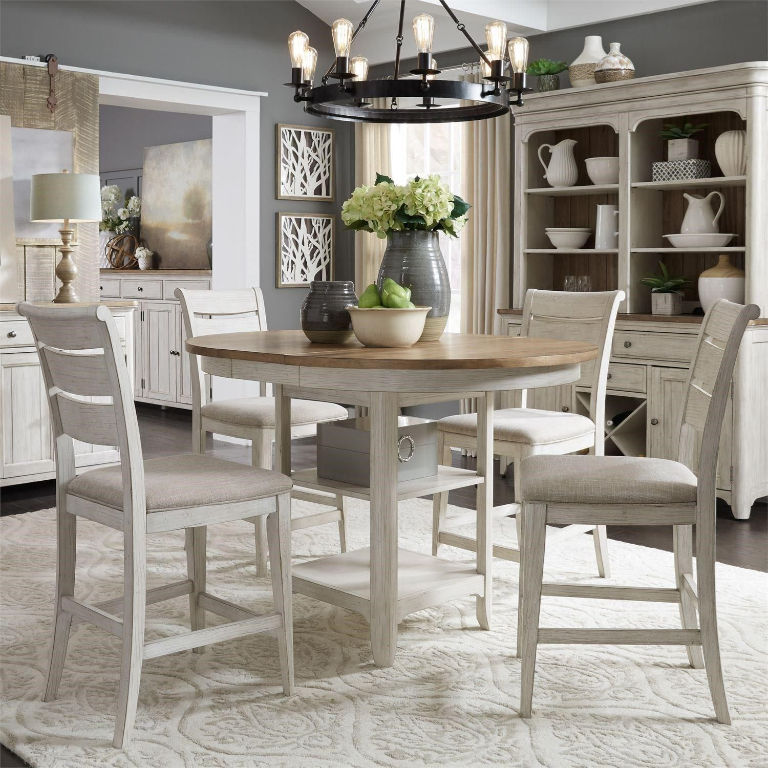 Farmhouse Reimagined 5 Piece Gathering Table Set By Sarah Randolph