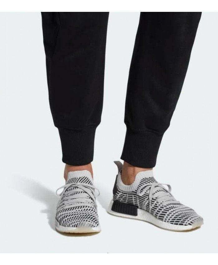24f9fbff711d5 Adidas NMD R1 STLT Primeknit Grey Black Mens Shoes