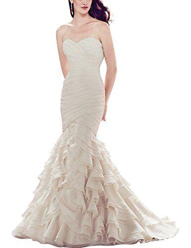 ModeC Strapless Organza Pleats iered Wedding Dresses with... https://www.amazon.com/dp/B01JA2VE5I/ref=cm_sw_r_pi_dp_L8aNxbWHMFA2F