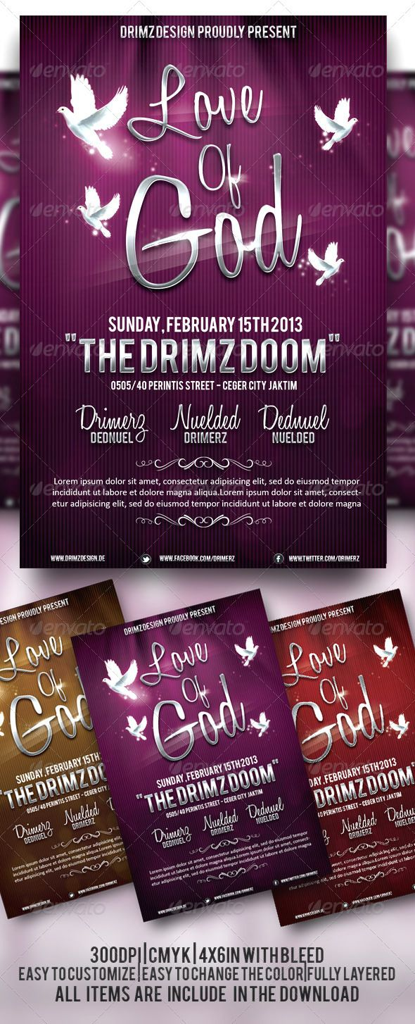 A Simple Flyer Design Perfect For Gospel Event Fully Layered Easy