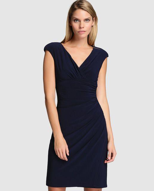 e8711c163 Vestido de mujer Lauren Ralph Lauren con plisados y escote cruzado ...