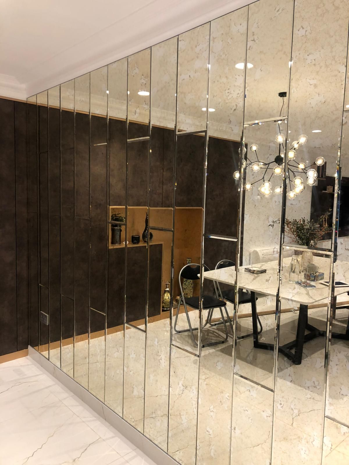 Bespoke Mirror Wall Cladding Sun Studio London In 2020 Mirror Design Wall Beveled Mirror Wall Mirror Wall Bedroom