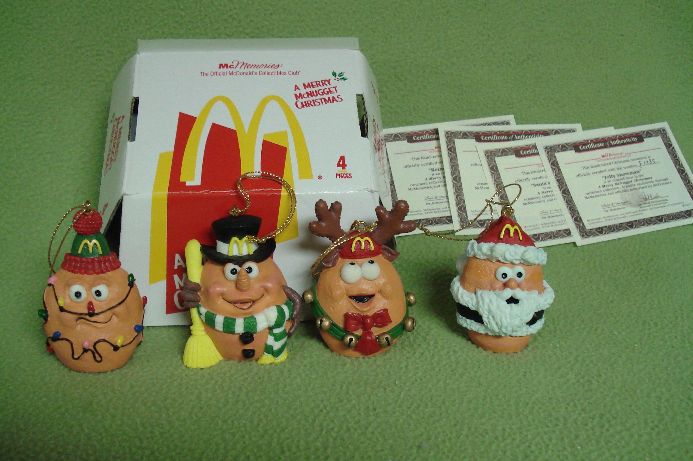 Mcdonalds Christmas Ornament.Mcdonalds Mcmemories Chicken Nuggets Ornaments Christmas Idea