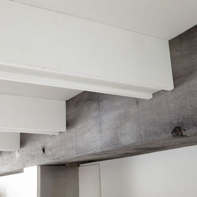 Love That Gray Wood Ceiling Beams White Beams Ceiling Post And