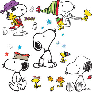 Snoopy's Fall And Winter Bulletin Board Set