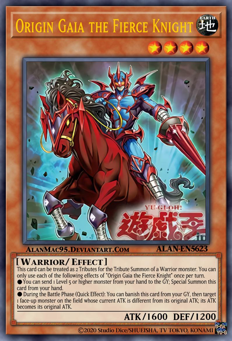 Origin Gaia The Fierce Knight By Alanmac95 On Deviantart Custom Yugioh Cards Rare Yugioh Cards Yugioh Trading Cards
