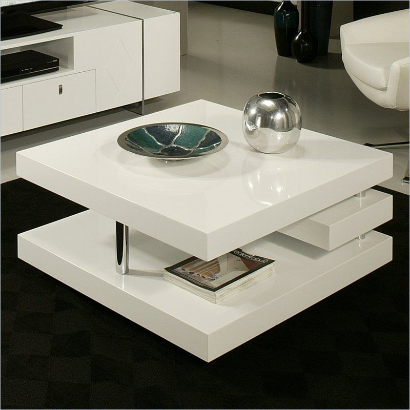 Pastel Furniture Viceroy High Gloss Wood Finish Coffee Table In White Qlvy4157955