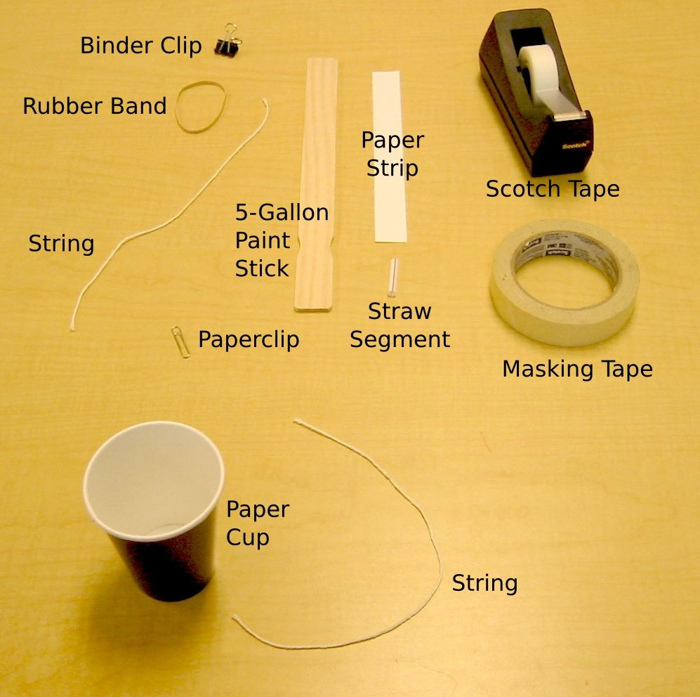 medium resolution of how to make a homemade spring scale from a rubber band and a paint stick