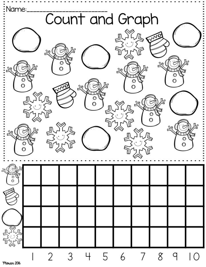 Kindergarten Math And Ela Winter Worksheets With Images