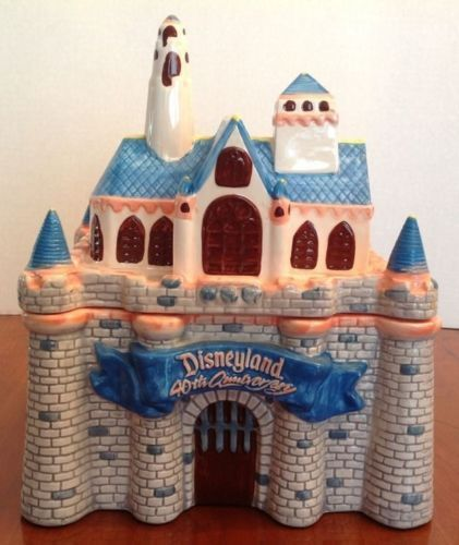 Disney Cookie Jar Disneyland Cinderella Castle 40th