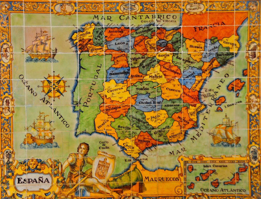 Map of Spain at the Alczar of Segovia Spain