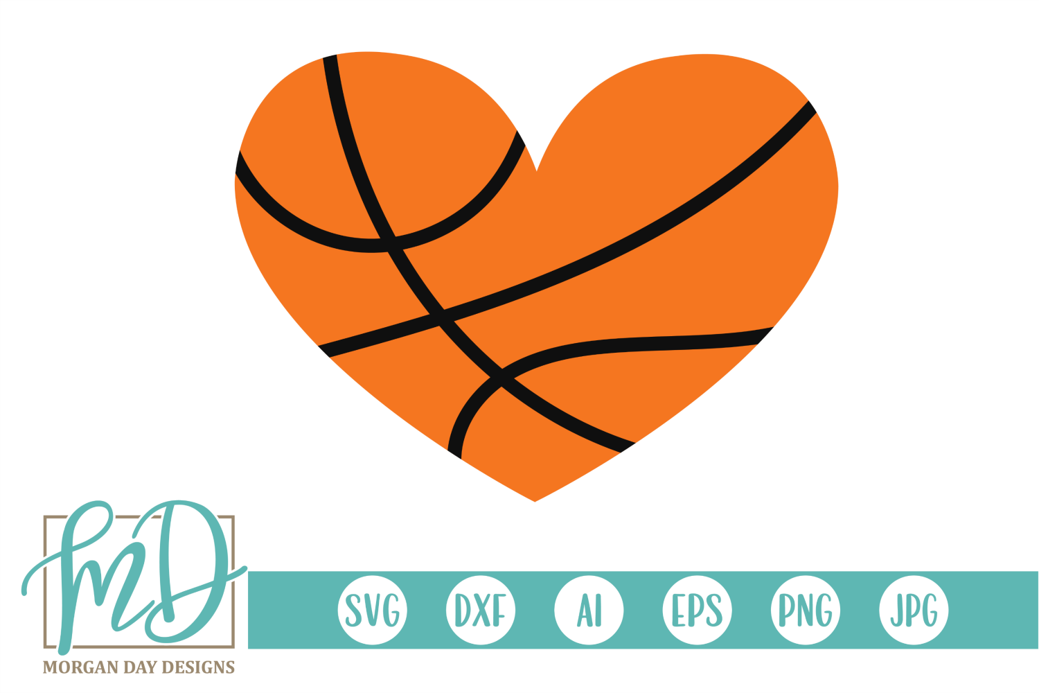 Basketball Heart SVG (Graphic) by Day Designs