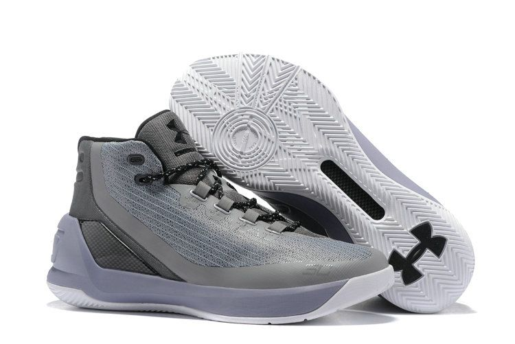 97c82a64d560 2017-2018 Sale UA Curry 3 Discount 2017 UA Stephen Curry 3 Gray White  Basketball Shoe For Sale