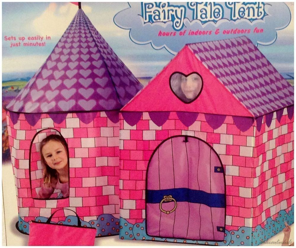 Fairy Tale Tent Pink Princess Play Indoor Outdoor S Playhouse Camp Castle