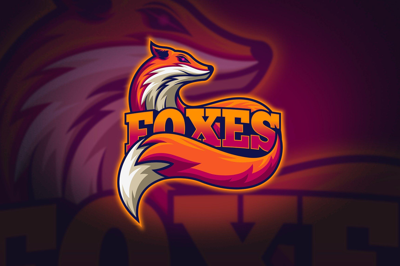 Foxes Mascot Esport Logo Mascot Art Logo Graffiti Characters