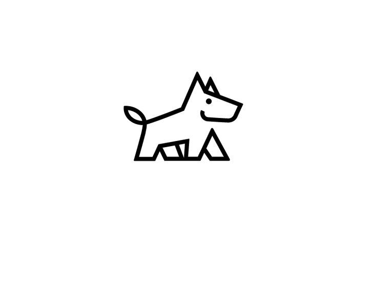 D Line Drawings Logo : Doggy logotipo de animal logotipos y animales