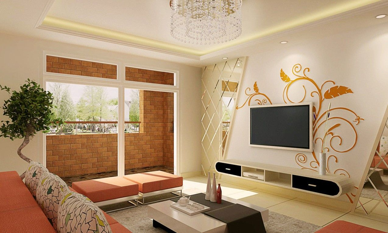 wall design ideas for living room