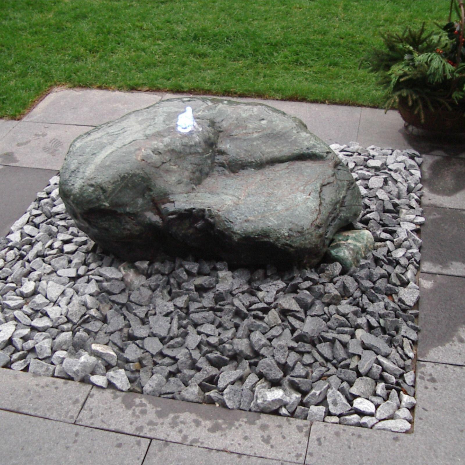 Grauer Quellstein Wasserbrunnen Garten Wasserspiel Garten Brunnen Garten