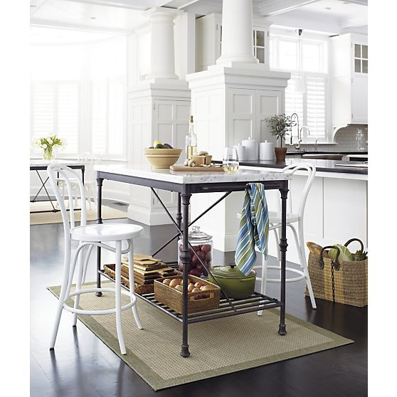 French Kitchen Island Reviews Crate And Barrel Bistro Kitchen Decor Marble Top Kitchen Island Kitchen Seating