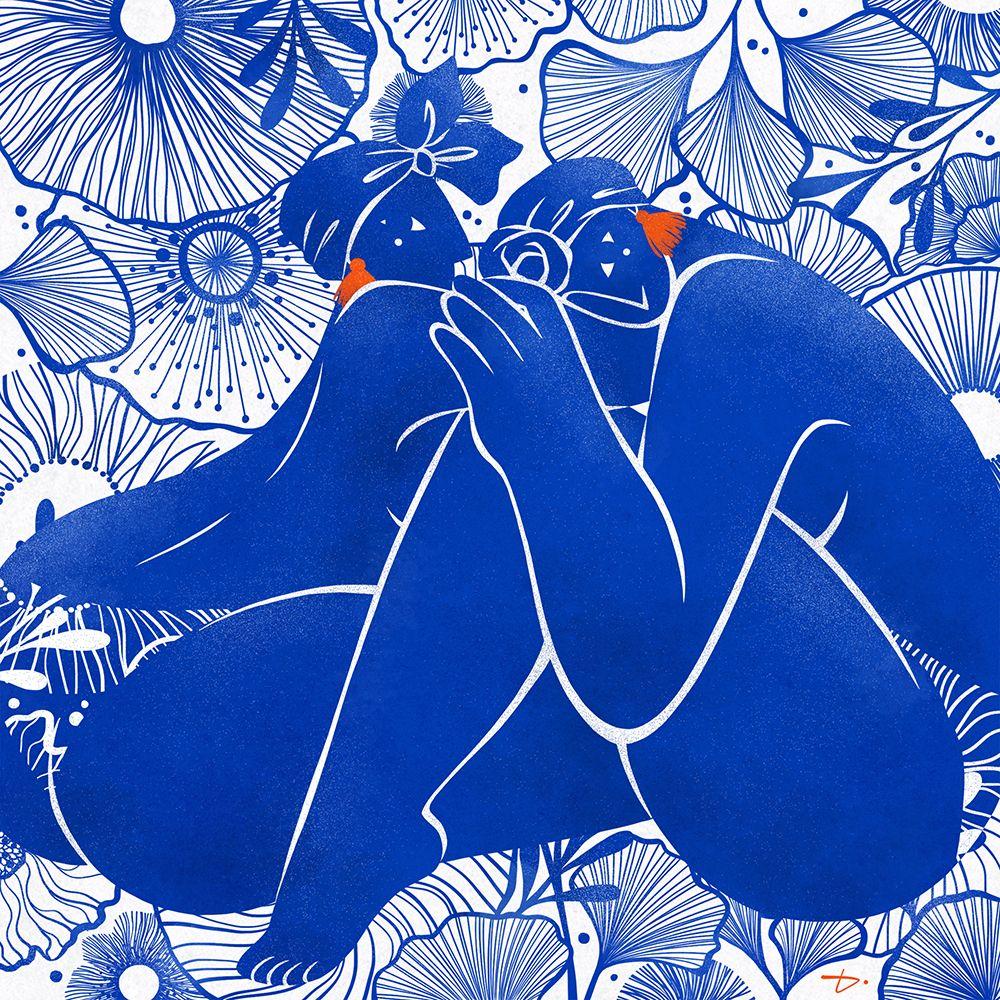 Blue duet en 2020 Dessin, Croquis