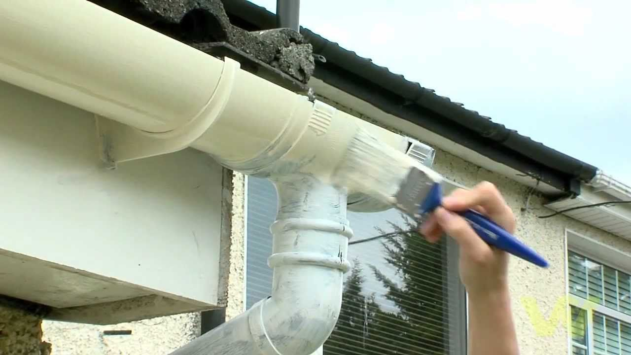 How To Paint A Plastic Gutter Gutters Plastic Roofing Plastic Guttering