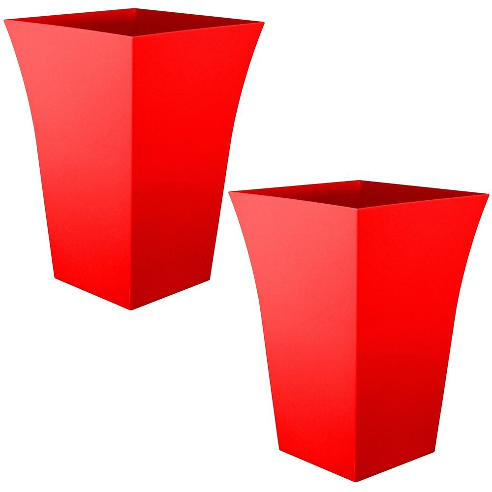 Details About 2 X Large Milano Tall Planter Square Plastic Garden Indoor Flower Plant Pot Red Indoor Flowers Tall Planters Indoor Garden