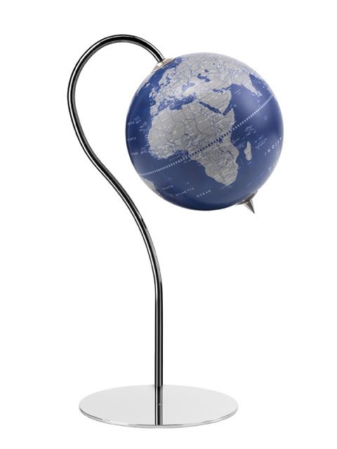 zoffoli punto blueocean floor globe with unique chrome pedestal stand and 16