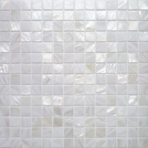 Carrelage mosaique nacre v ritable blanc pur 2x2 cm for Carrelage mosaique blanc