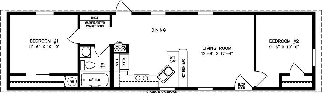 Small Manufactured & Modular Home Floor Plans